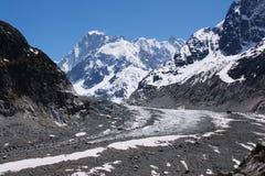 Glacier In Mont-blanc Massive Stock Photo