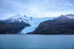 Glacier Italia in Tierra del Fuego, Beagle Channel, Alberto de Agostini National Park in Chile stock photos