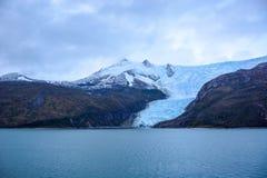 Glacier Italie en Tierra del Fuego, la Manche de briquet, Alberto de Agostini National Park au Chili photos libres de droits