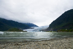 Glacier in Juneau Alaska. The Mendenhall Glacier in Juneau Alaska stock photography