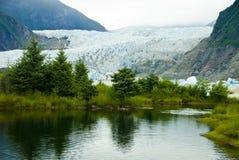 Glacier in Juneau Alaska. The Mendenhall Glacier in Juneau Alaska Stock Photos