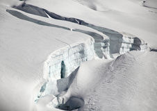 Glacier of Jungfraujoch Stock Photos