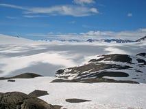 Glacier Kenai Alaska de champ de glace et de sortie de Harding Photos libres de droits