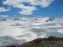 Glacier Kenai Alaska de champ de glace et de sortie de Harding Photo stock