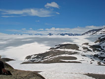 Glacier Kenai Alaska de champ de glace et de sortie de Harding Photos stock