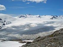 Glacier Kenai Alaska de champ de glace et de sortie de Harding Image libre de droits