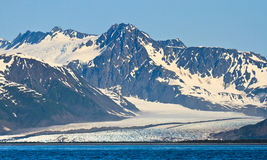 Glacier in Kenai Fjords National Park, Alaska Royalty Free Stock Photography