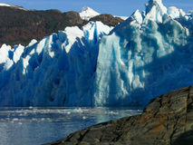 Glacier in Lago Grey in Torres del Paine Stock Photos