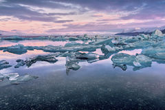 Glacier Lagoon in east Iceland Stock Image