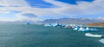 Glacier lagoon in east iceland Stock Images