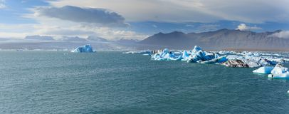 Glacier lagoon in east iceland Royalty Free Stock Photography