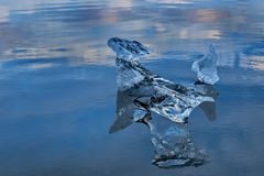 Glacier Lagoon in east Iceland, nature Royalty Free Stock Images
