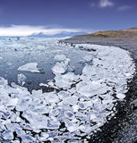 Jokulsarlon Glacier lagoon Royalty Free Stock Photo