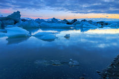 Glacier lagoon in Iceland Royalty Free Stock Photos