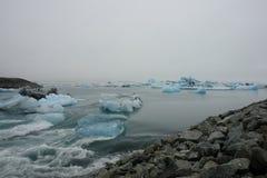 Glacier lagoon, Jokulsarlon, Iceland Royalty Free Stock Images