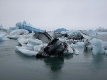 Glacier lagoon, Jokulsarlon, Iceland. Jokulsarlon glacier lagoon in Iceland Royalty Free Stock Photos