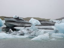 Glacier lagoon, Jokulsarlon, Iceland Royalty Free Stock Photos