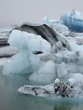 Glacier lagoon, Jokulsarlon, Iceland Stock Photos