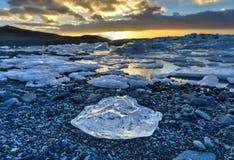 Glacier lagoon, Jokulsarlon, Iceland Stock Photo