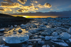 Glacier lagoon, Jokulsarlon, Iceland Royalty Free Stock Image