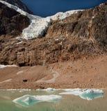 Glacier and Lake. Glacier on Mount Edith Cavell Stock Image