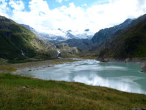 Glacier lake in the  alpine mountains of Switzerland, Unterstock, Urbachtal Stock Photography