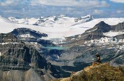 Glacier lake and Bow falls from Cirque peak Royalty Free Stock Photos