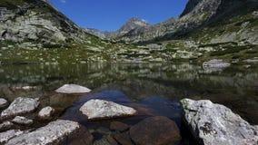 Glacier lake in Vysoke Tatry National park, Slovakia stock photo