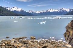 Glacier lake in El Calafate, Argentina. View over the Glacier lake of Perito Moreno, Argentina Royalty Free Stock Image