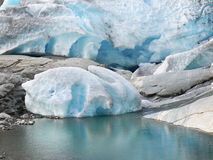 Glacier and Lake Royalty Free Stock Images