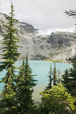 Glacier lake in high mountain Stock Image