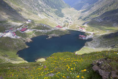 Glacier lake and high mountains in Fagaras, Carpathians,Romania,Europe Stock Photos