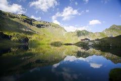 Glacier lake and high mountains in Fagaras, Carpathians,Romania,Europe Stock Photo