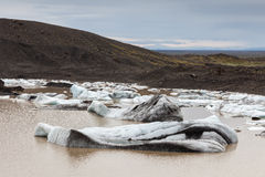 Glacier and lake with icebergs, Iceland Royalty Free Stock Photo