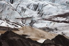 Glacier with lake with icebergs, Iceland Stock Image