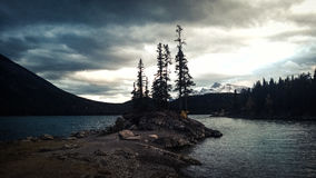 Glacier lake mountain storm clouds island Royalty Free Stock Photos