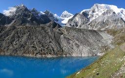 Glacier lake near Larke La pass Royalty Free Stock Photography