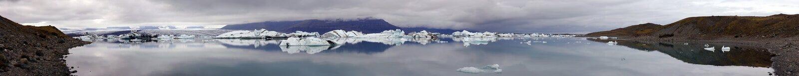 Glacier Lake Panorama royalty free stock photos