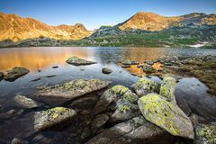 Glacier Lake in Retezat Stock Images
