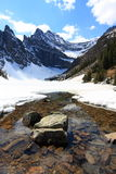 Glacier lake in the Rocky Mountains Royalty Free Stock Photo