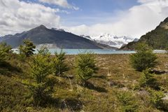 Glacier and lake Tierra del Fuego Stock Image