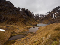 Glacier lakes near Harris Saddle, Routeburn Track Stock Photo