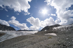 Glacier landscape in alps Stock Photography