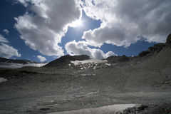 Glacier landscape in alps Royalty Free Stock Images