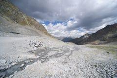 Glacier landscape in alps Royalty Free Stock Photo