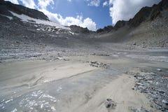 Glacier landscape in alps Royalty Free Stock Photos