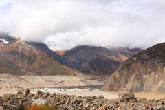 Glacier landscape in Tibet. The landscape nearby Laigu Glacier in Tibet, China Stock Photography
