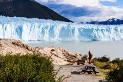 Glacier landscape view  holiday travel. Global warming and clima. The Perito Moreno Glacier is a glacier located in the Los Glaciares National Park in Santa Cruz Stock Photo