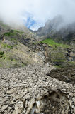 Glacier (le pont de neige) in the summer Pyrenees Stock Photos