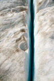 Glacier Line. A crack in the ice on a NZ glacier Royalty Free Stock Photography